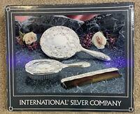 International Silver Company No. 99117931  3 Pieces, Mirror, Brush, Comb, New OS