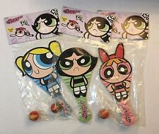Powerpuff Girls Paddle Ball Set Of 3 Blossom Bubbles Buttercup New Sealed