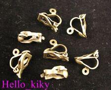 120Pcs Antique bronze Earring clip on Findings M609