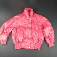 Retro Descente Womens S UK 12 Ski Snowboard Jacket Winter Snow Red Bling Coat