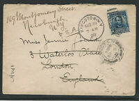 U.S. Scott #304 on 1903 Cover, Sent to London and Forwarded by American Express