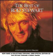 Rod Stewart - Very Best Greatest Hits Collection RARE 1989 CD 70's 80's Pop Rock