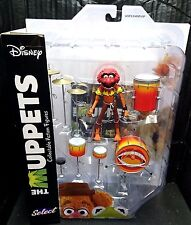 "The Muppets 7"" Scale ANIMAL with DRUMSET New! Disney/Diamond Select"