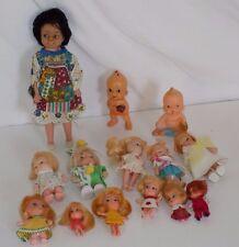 Lot Vintage Small Dolls Hong Kong Vinyl Rubber Plastic