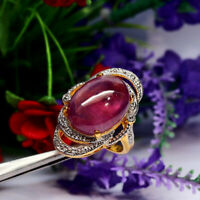 NATURAL 13 X 17 mm. OVAL PURPLISH RED RUBY RING 925 STERLING SILVER