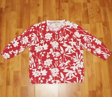 APPLESEED'S Women's Sz L Patterned Button Front Sweater CARDIGAN  EUC