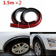 2X 1.5M*4cm Widen Big Size Car Wheel Tires Eyebrow Strip Rubber Fender Protector