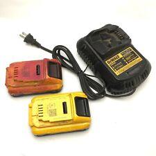DEWALT DCB101 Charger 12/20VDC w/ 2x DCB230 Lithium-Ion 20VDC 3AH Battery Packs