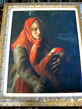 ANTIQUE PAINTING KAROLY SZEGVARY ANDERS ZORN SWEDISH FOLLOWER PORTRAIT MADONNA