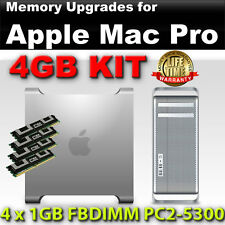 4GB 4x1GB DDR2 667MHz PC2-5300 ECC FBDIMM MAC PRO 2006 2007 RAM KIT