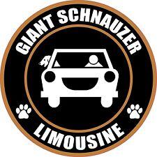 """Limousine Giant Schnauzer 5"""" Dog Sticker"""
