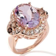 Ramona Singer 6.12ct Pink Amethyst and Gemstone Rose Vermeil Ring Size 6