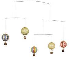 Hot Air Balloon Mobile Primary Colors Hanging Nursery Decor