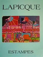 LAPICQUE Charles Catalogue Raisonné des Lithographies et Gravures Balanci Blache