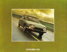 Citroen GS 1973-74 UK Market Foldout Brochure 1015 1220 Confort Club Estate Van
