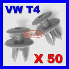 VW T4 T5 TRANSPORTER INTERIOR TRIM PANEL CLIPS DARK GREY X 50