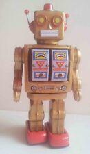 Blechspielzeug - Roboter WalkMan, Electron mit MG, Batterien goldfarben 6690100