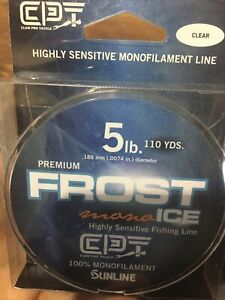 FROST MONO 110YD 5# CLEAR CLAM ICE LINE