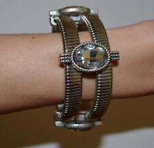 New Bansri Silver Tone Greek Goddess Stretch Cuff Bracelet $200