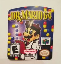 dr mario 64 Nintendo 64 n64 replacement label sticker precut