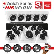 Hikvision Cctv 16 canales DVR 2MP HD Cámara CCTV Domo Casa hiwatch Al Aire Libre Kit