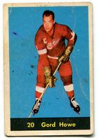 1960/61 Parkhurst Gordie Howe Card #20 Detroit Red Wings