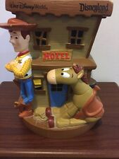 DISNEYLAND ~ WALT DISNEY WORLD TOY STORY 2 COIN BANK HOTEL WOODY JESSE Bullseye