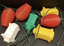 VTG Blow Mold Lantern Style String Lights Party Patio Lites RV Camper WORKS