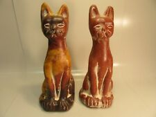 Large Pair of Sitting Cats Statues 16 1/2'' Tall