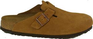 BIRKENSTOCK 1009542 BOSTON Mink (brown) suede SOFT FOOTBED regular footbed NEW