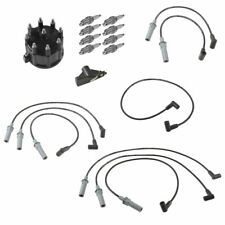 OEM Distributor Cap & Rotor with Spark Plugs & Wires Tune Up Kit for 5.9L 5.2L