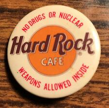 Hard Rock Cafe Button Pin