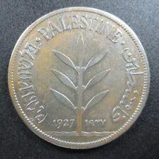PALESTINE 100 MIL 1927 BRITISH MANDATE ISRAEL 84# BANK WORLD MONEY COIN