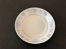"China Pearl HELEN Blue Flowers, Platinum Trim - 7-1/2"" COUPE SOUP BOWL"