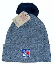 NHL New York Rangers Beanie Pompom Cap Navy Heather American Needle One Size NEW