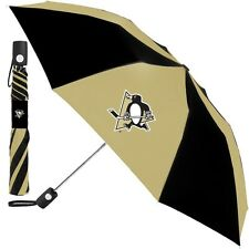 """Pittsburgh Penguins Umbrella Automatic Button FREE Ship 42"""" Compact NHL Genuine"""