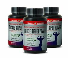 Mass Gainer - Pasak Bumi MUSCLE MAKER POWER Bodybuilding Pills 3 Bottles