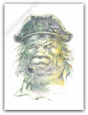 Affiche Hermann Bernard Prince Barney Jordan Portrait 225ex Signée 30x40 cm