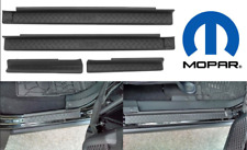OEM Mopar 4pc Door Entry Sill Scuff Guards For 2007-2018 Jeep Wrangler New USA