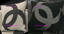CHANEL 2018 TOP  BLACK WHITE CC CASHMERE DRESS PILLOW NEW IN SLEEPER BAG