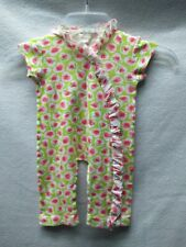 Baby Nay Girls Size 6 Months Green And Pink Floral One Piece
