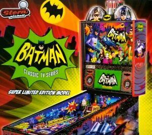 Batman 66 SUPER Limited Ed Pinball Machine FLYER Original Super Hero Adam West