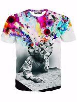 Summer Mens Short Sleeve Casual 3D Shirt T-Shirt Top Tee Blouse Unique Clothing