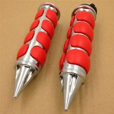 "Red Spike 7/8"" Handlebar Grip for Kawasaki GPz1100 GPz305 GPz550"