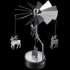 Revolving Spinning Christmas Tea Light Candle Holder Ornament - Reindeer