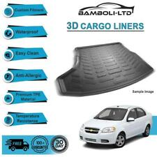 3D CARGO LINER BOOT LINER REAR TRUNK MAT FOR CHEVROLET AVEO 2011-UP
