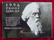 1996 Sir Henry Parkes - Six Coin Proof Set, Royal Australia Mint