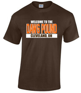 """Cleveland Browns """"Welcome to the Dawg Pound"""" jersey T-shirt  S-5XL"""
