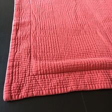 Ll Bean Pillow Sham Cover Orange King Quilted