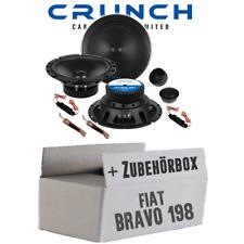 Crunch Lautsprecher für Fiat Bravo 198 Front Tür Boxen 16cm Auto Einbauzubehör